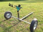 Agricultural long throw impact sprinkler B25 with cart