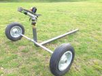 Atom 28 Impact irrigation sprinkler with wheeled cart