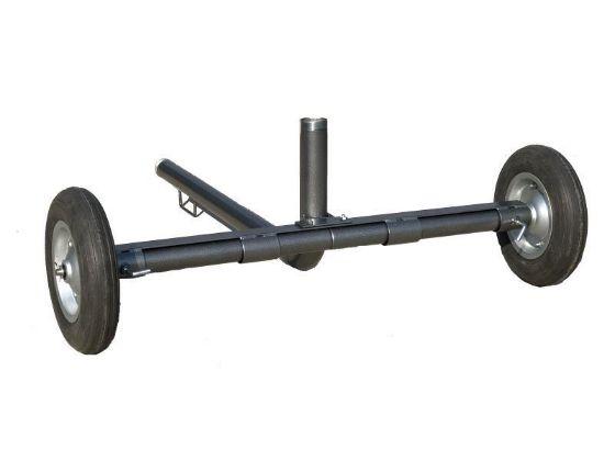 """DuCaR 2"""" wheeled cart for agricultural irrigation sprinklers"""