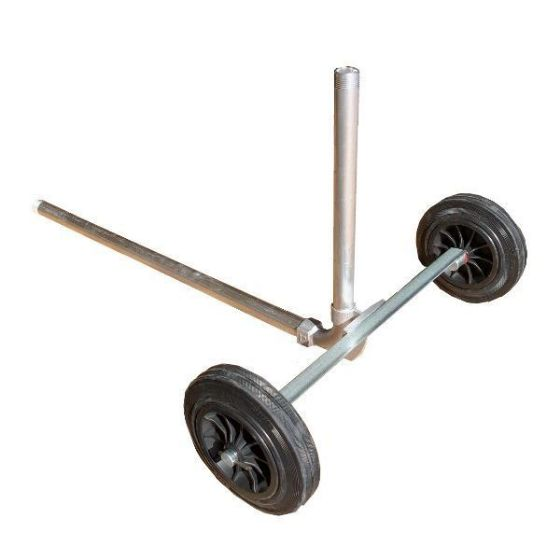 New design 1 inch portable sprinkler cart