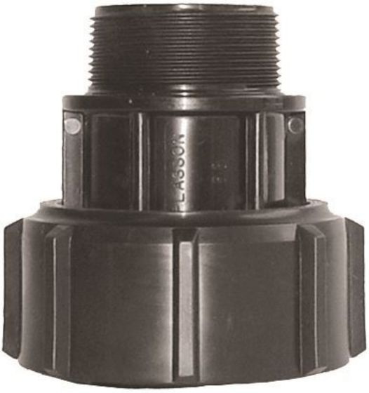 Plasson 7250 Metric Barrel Union Adaptor with Male Thread