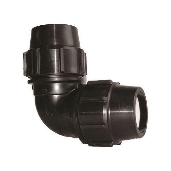 Plasson 7510 90° Metric Reducing Elbow